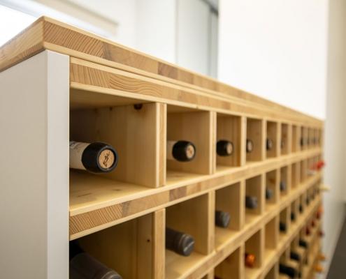 Fächer für Weinflaschen aus Fichte 3-Schicht-Platte